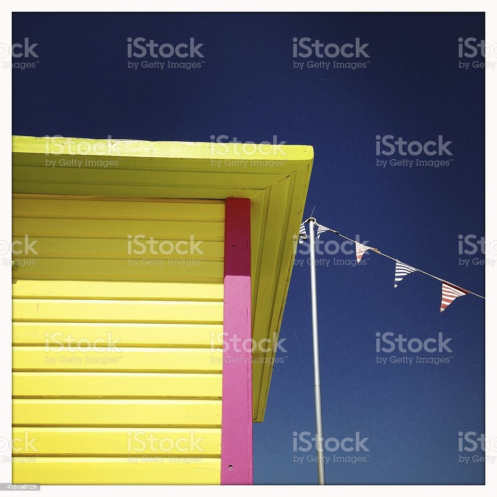 Colourful Summer Cottage stock photo