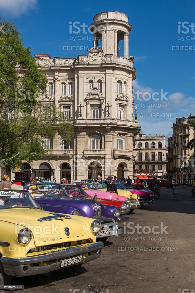 Colourful Taxis stock photo