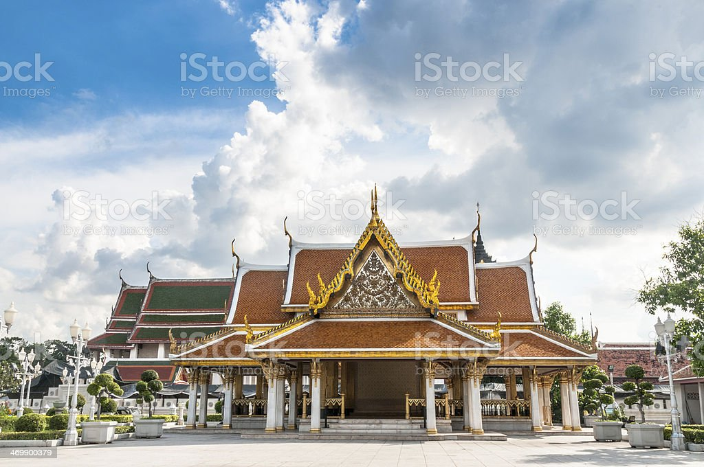 Colourful Temple In Thailand royalty-free stock photo