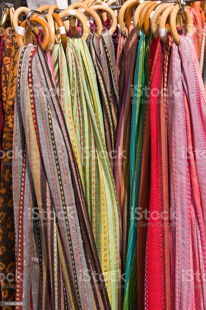 Colourful textile background stock photo