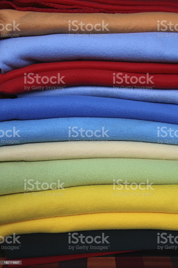 Colourful Textile Blankets royalty-free stock photo