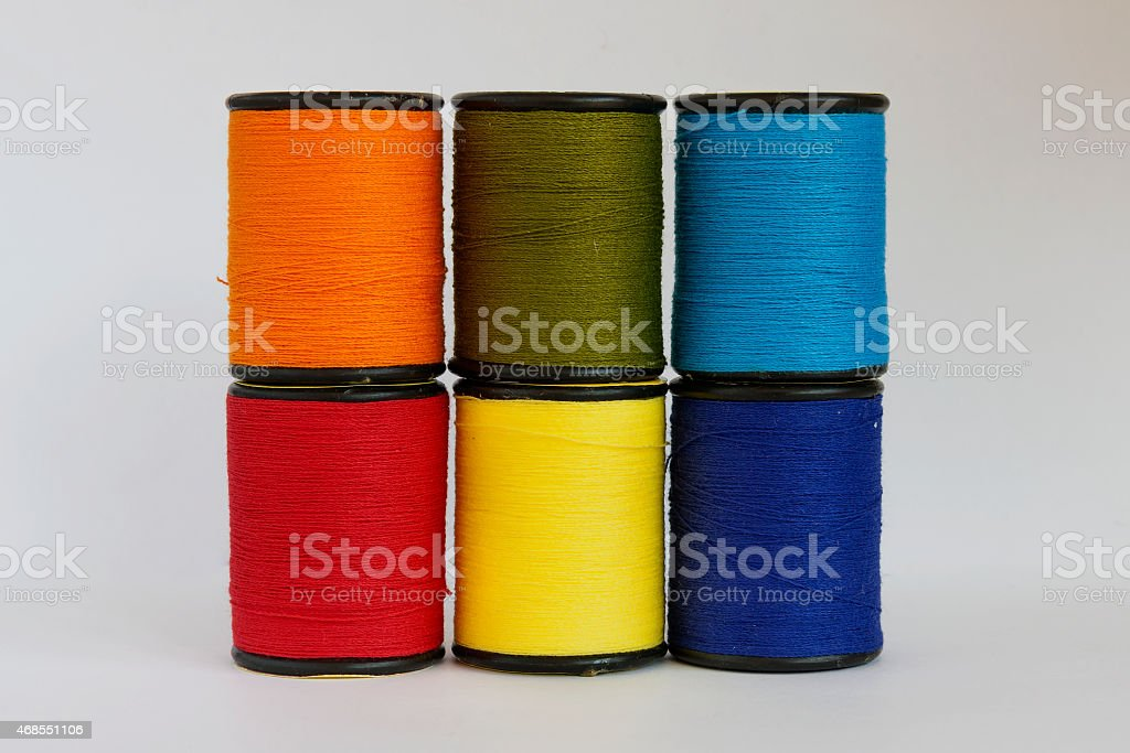 Colourful thread in spool royalty-free stock photo