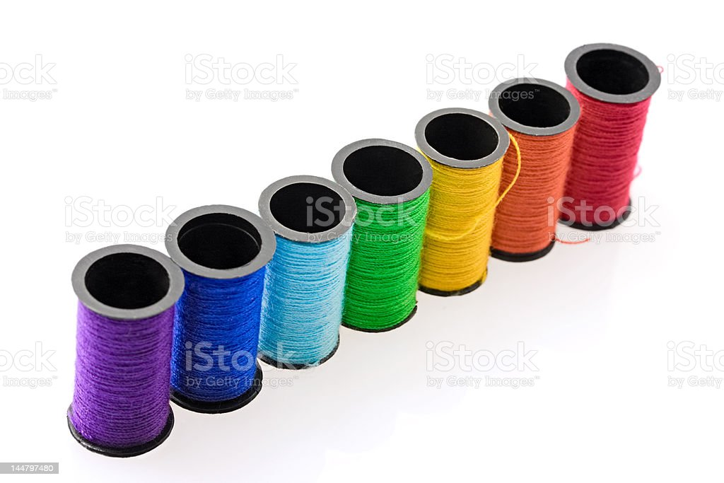 Colourful threads royalty-free stock photo
