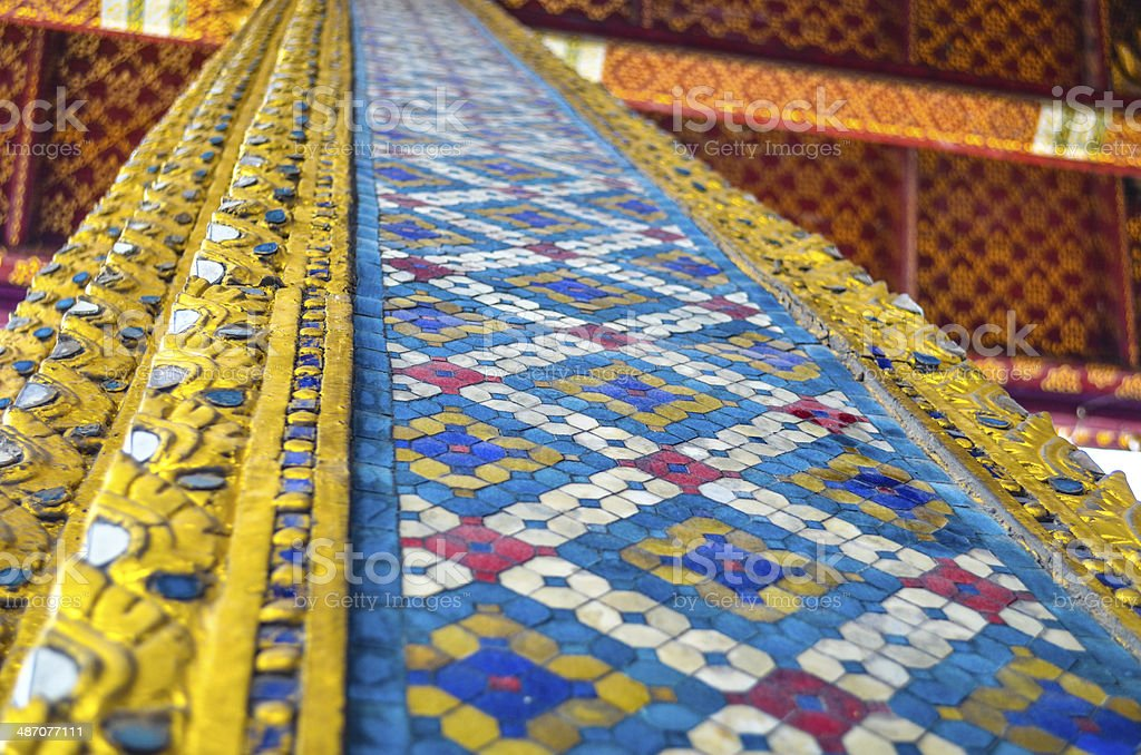 Colourful tiled wall royalty-free stock photo