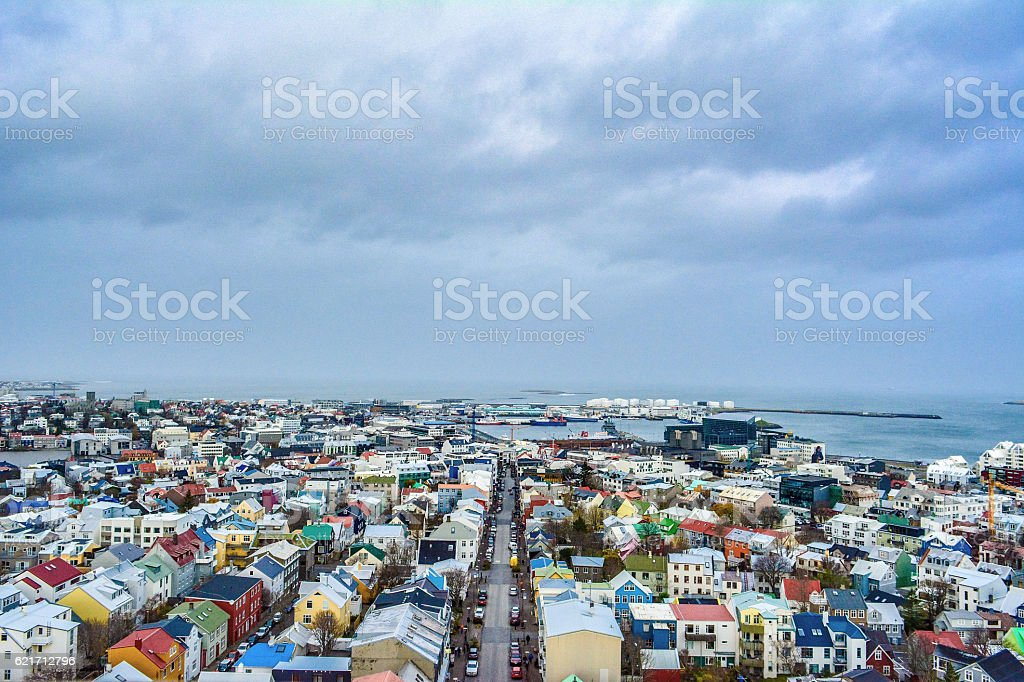 Colourful Town stock photo