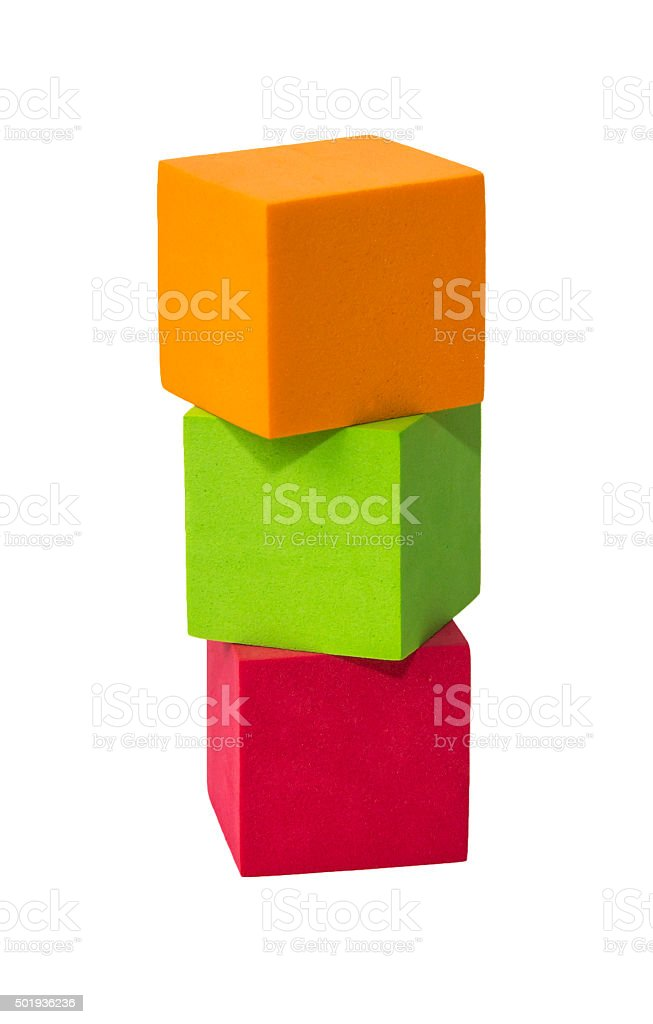 Colourful toy shape stock photo