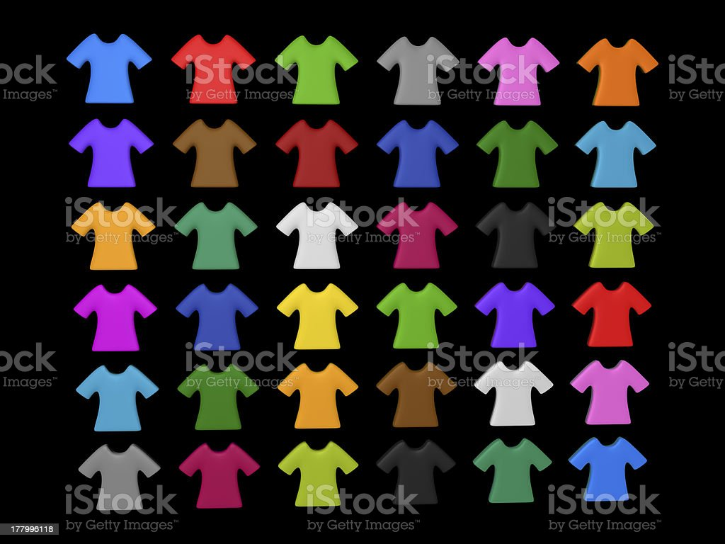Colourful t-shirt icon background royalty-free stock photo