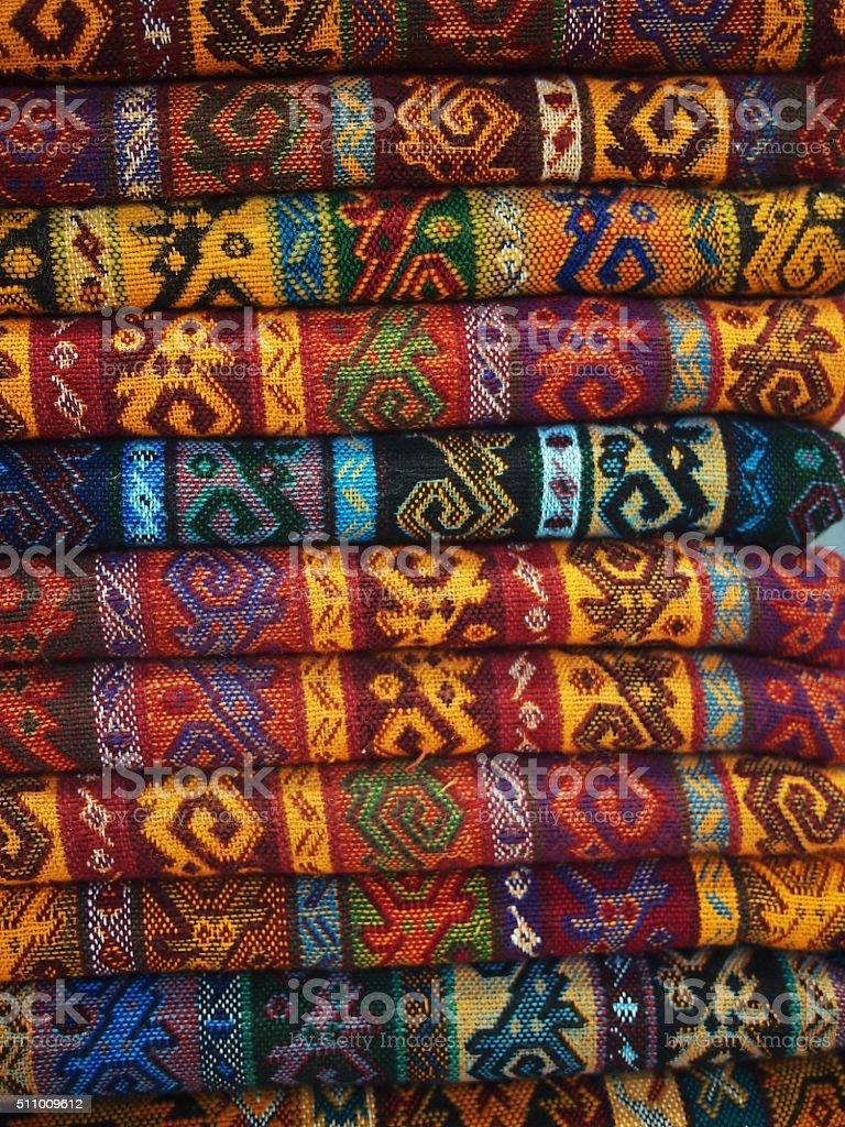 Colourful Turkish rugs stock photo