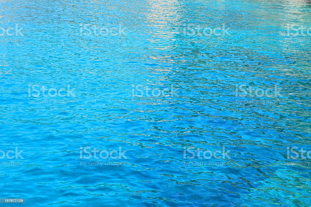 Colourful turquoise blue sea by Cinque Terre coast, Liguria, Italy royalty-free stock photo