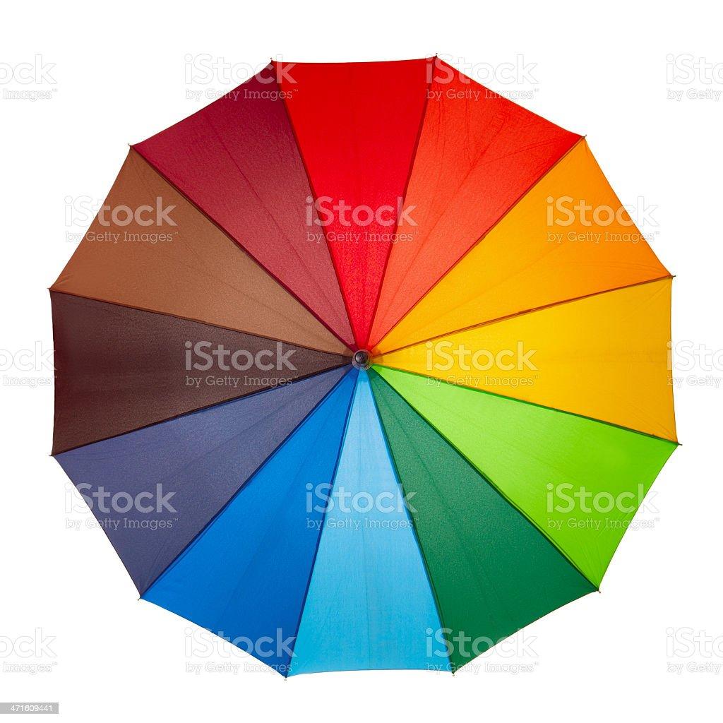 Colourful umbrella isolated on the white background royalty-free stock photo