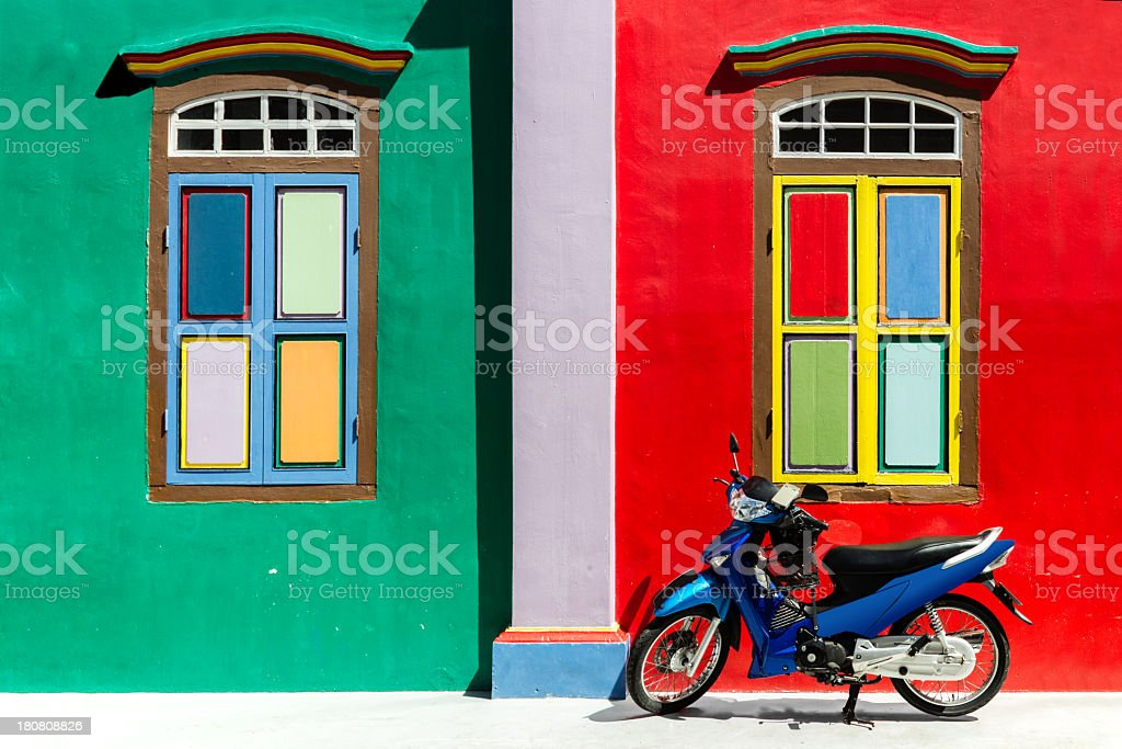 Colourful wall stock photo