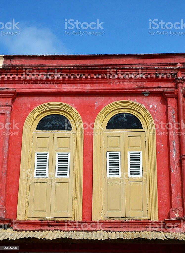 colourful windows royalty-free stock photo