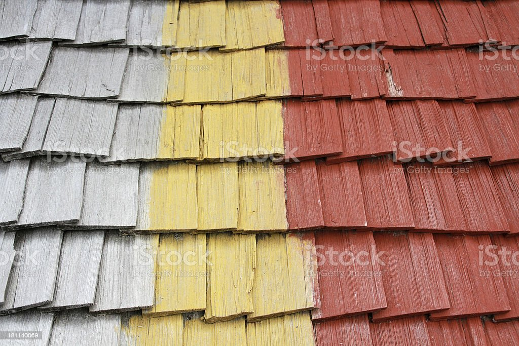 colourful wooden shingles royalty-free stock photo