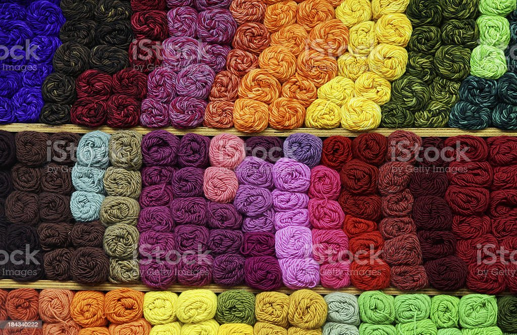 Colourful yarn for knitting stock photo