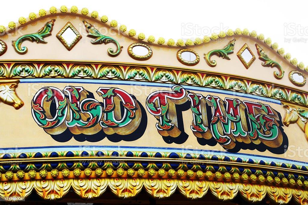 Colourfull Carousel Scene stock photo