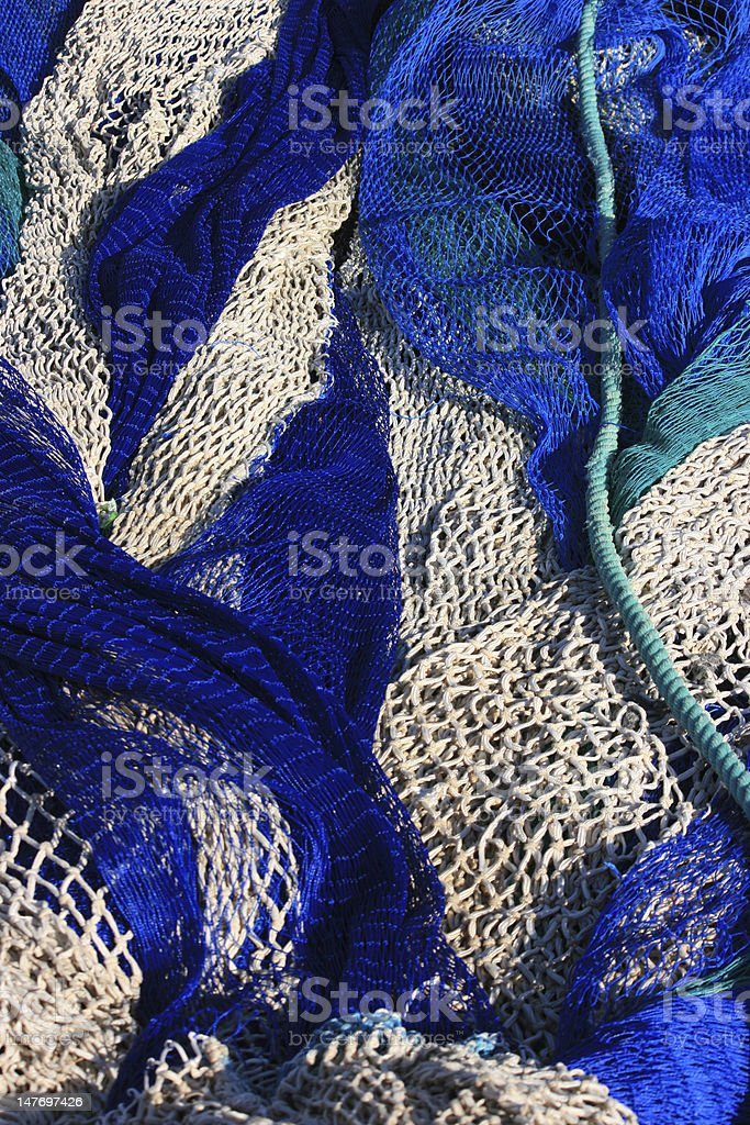 colourfull fishing net royalty-free stock photo