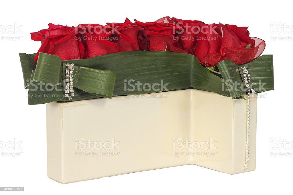 Colourfull floral arrangement stock photo