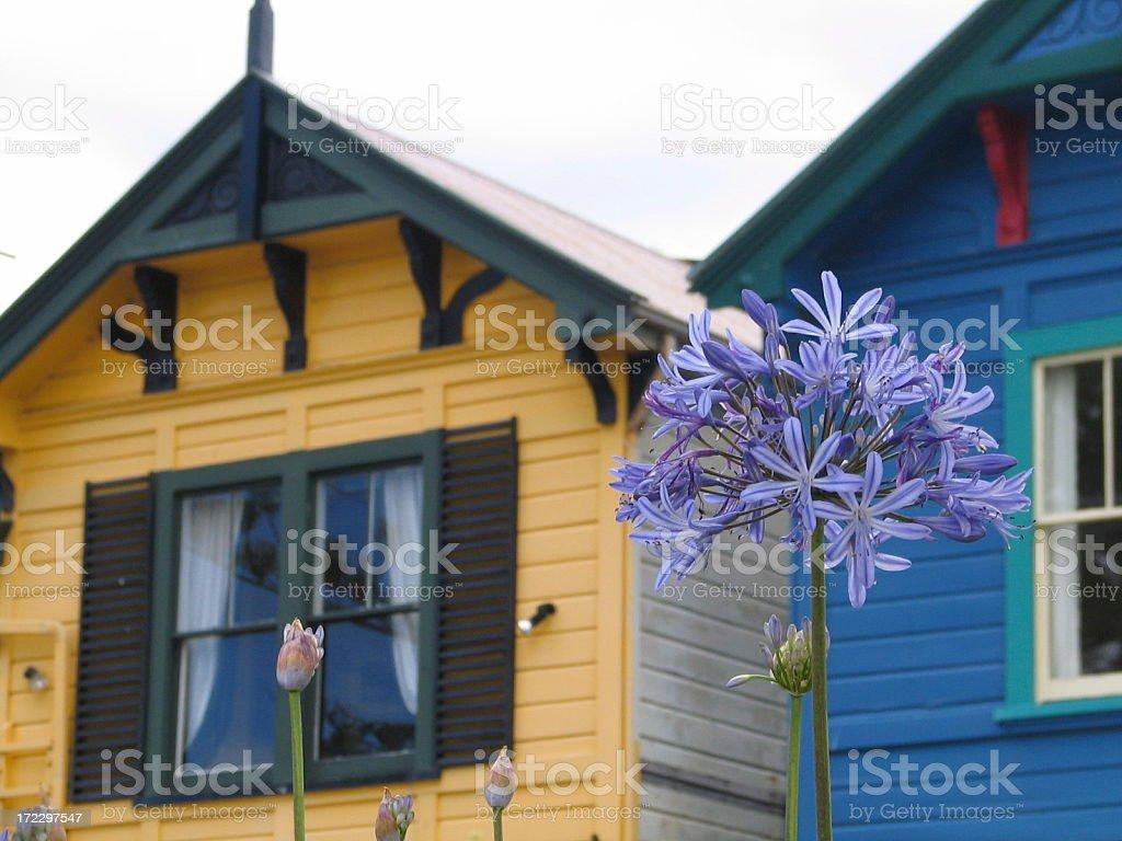 Colourfull houses stock photo