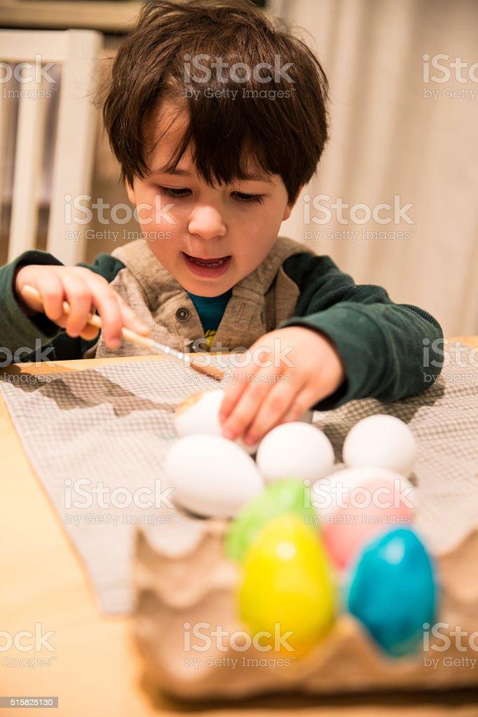 Colouring Eggs stock photo