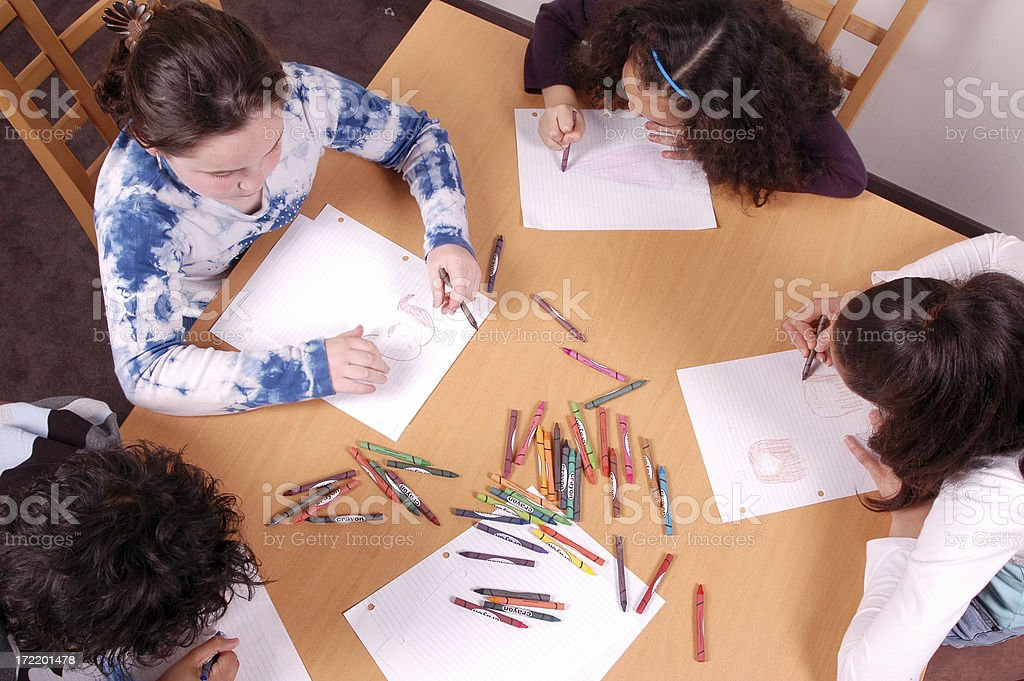 Colouring kids royalty-free stock photo