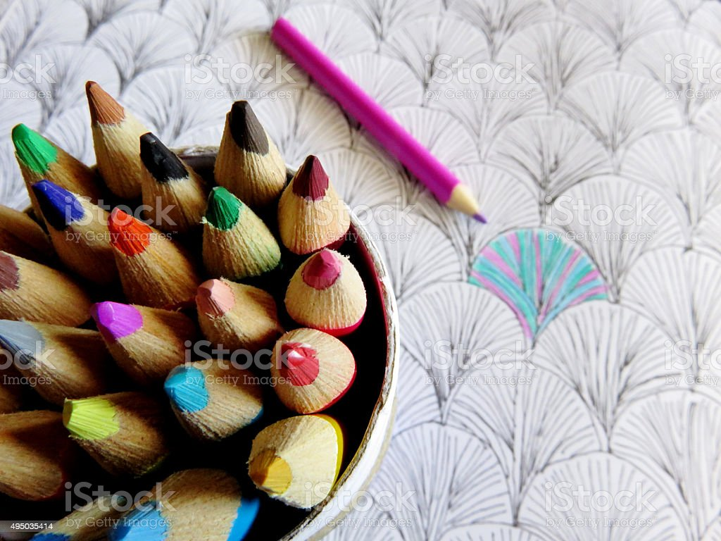 Colouring Pencils stock photo