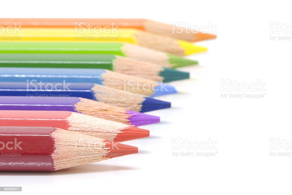 colouring pencils royalty-free stock photo