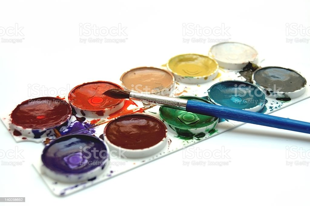 Colours and brush royalty-free stock photo