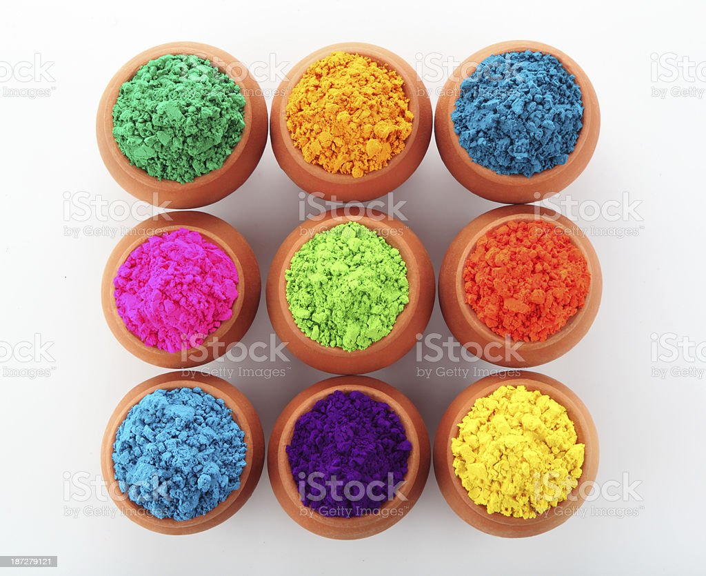 Colours for holi stock photo