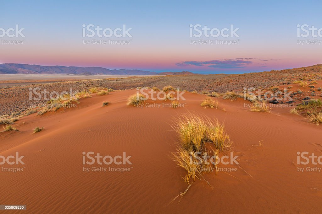 Colours in the sky before sunrise stock photo