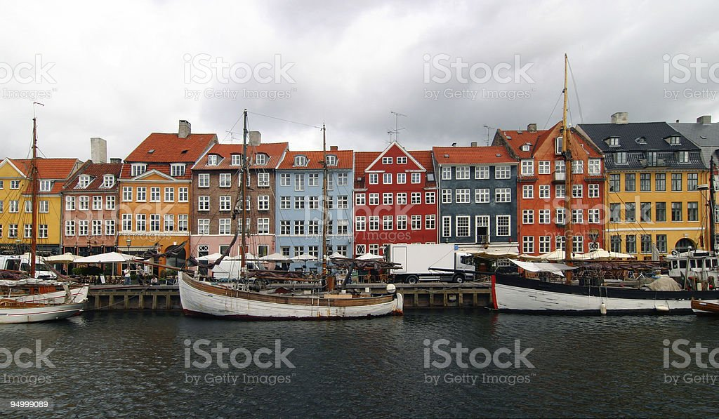 colours of Copenhagen royalty-free stock photo
