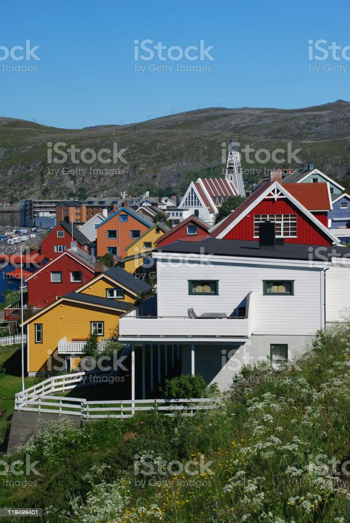 Colours of Hammerfest stock photo