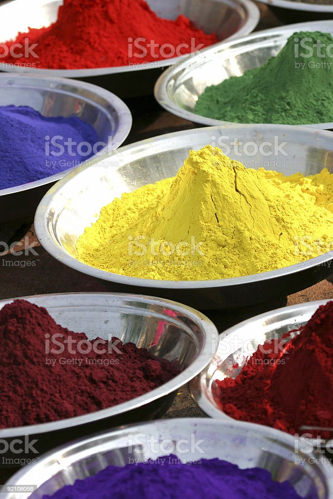Colours of India stock photo