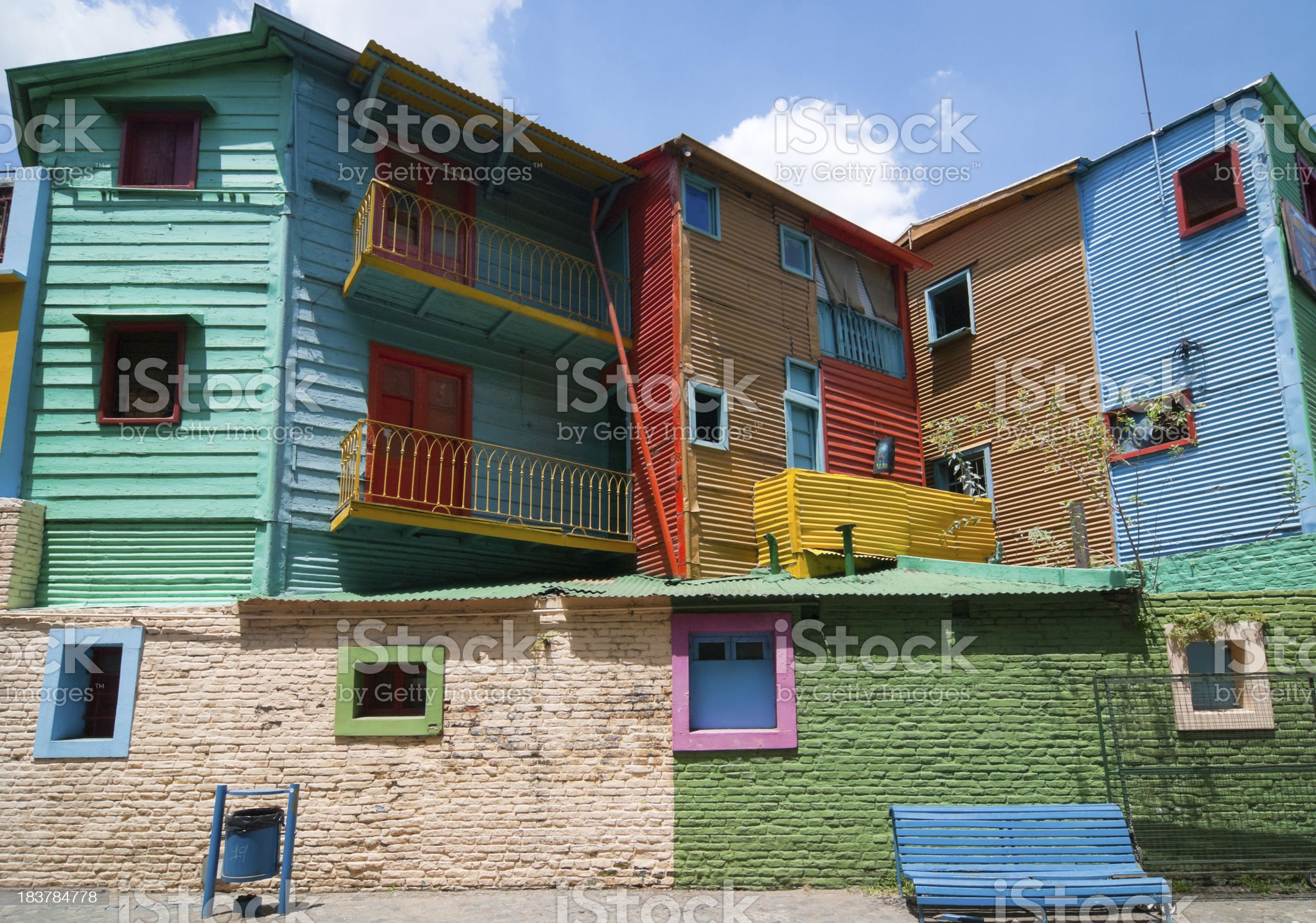 Colours of La Boca houses (Buenos Aires) royalty-free stock photo
