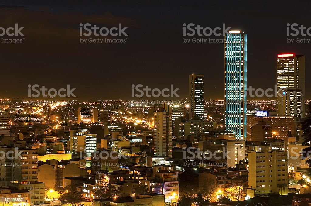 Torre Colpatria: turqouise stock photo