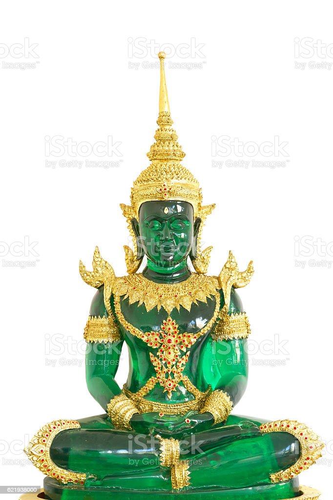 Colse-up emerald buddha image stock photo