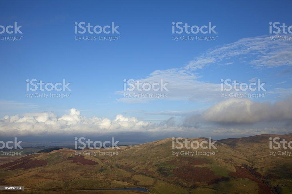 Colsnaur Hill from Dumyat. stock photo