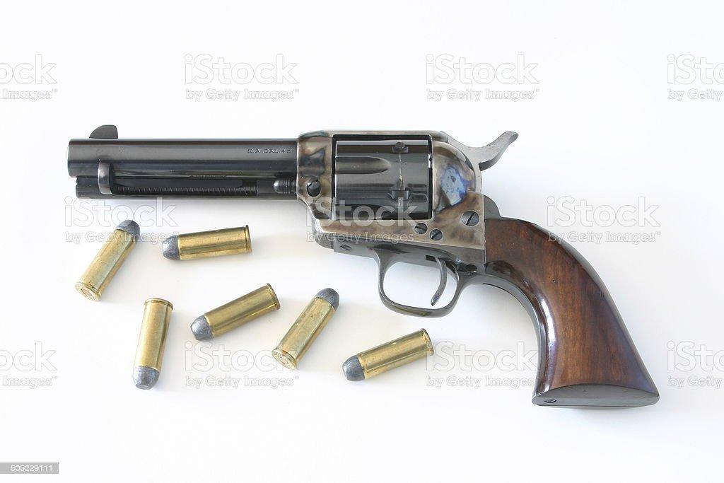 Colt .45 Pistol, Peacemaker stock photo