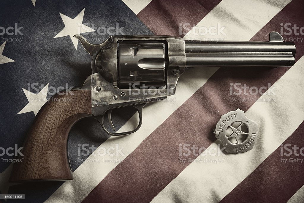 Colt Peacemaker & American Law stock photo