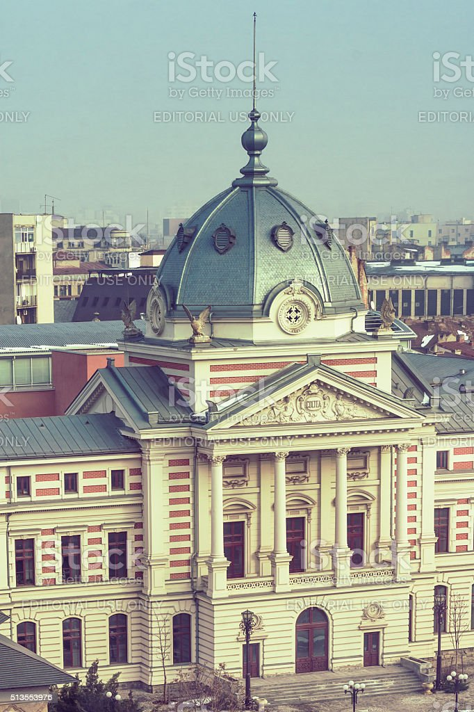Coltea Hospital from Bucharest stock photo
