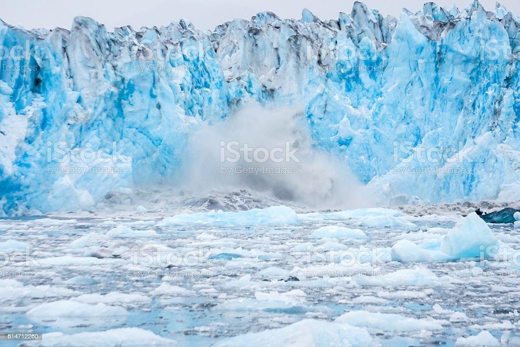 Columbia Glacier stock photo