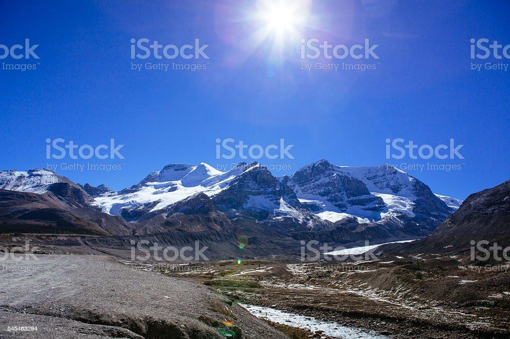 Columbia Icefield, Rocky Mountains, Alberta, Canada stock photo