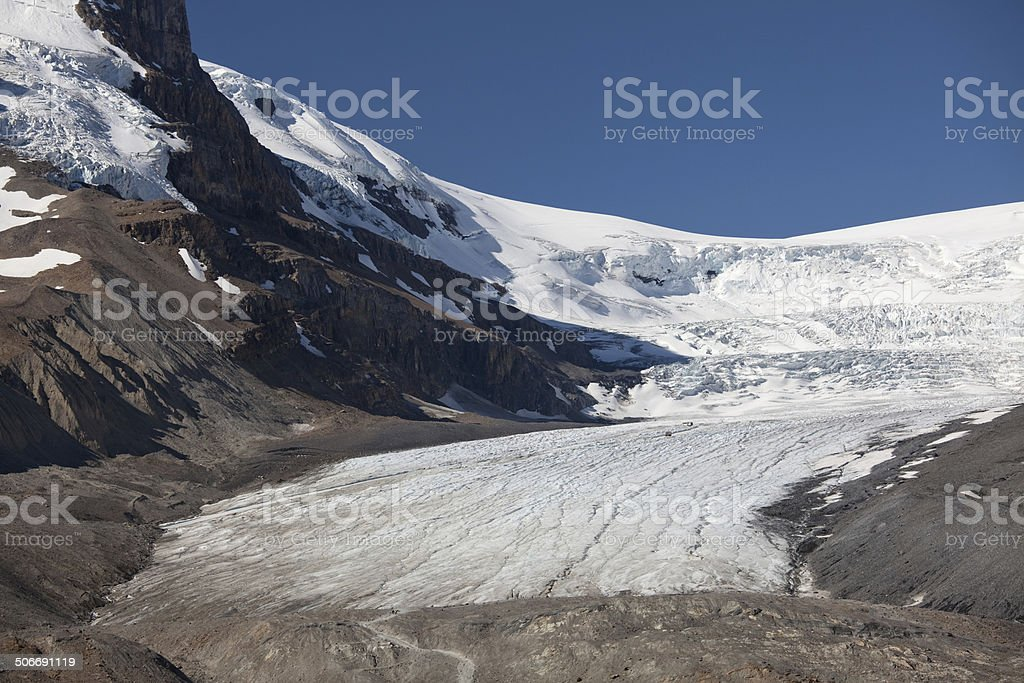 Columbia Icefields and Athabasca Glacier royalty-free stock photo
