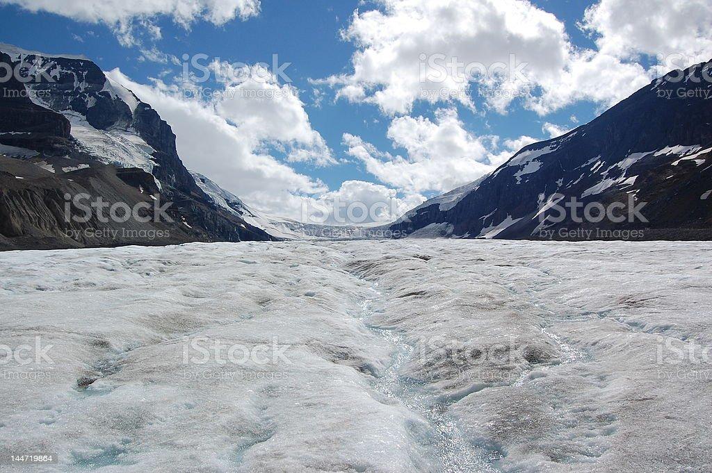 Columbia Icefields Glacier, Candada royalty-free stock photo