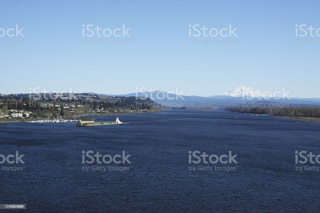 Columbia River and Mt. Hood royalty-free stock photo