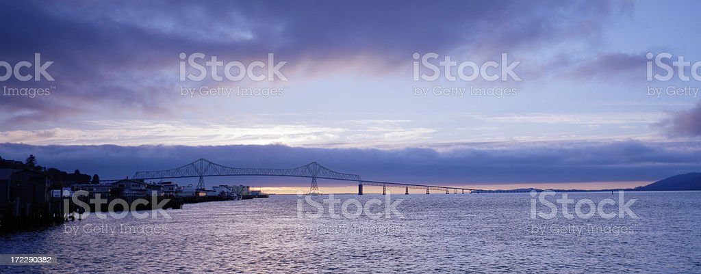 Columbia River at Astoria, Oregon, United States stock photo