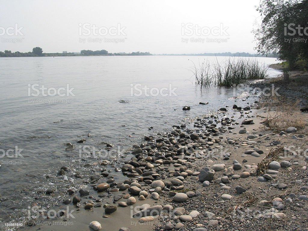 Columbia River Beach royalty-free stock photo