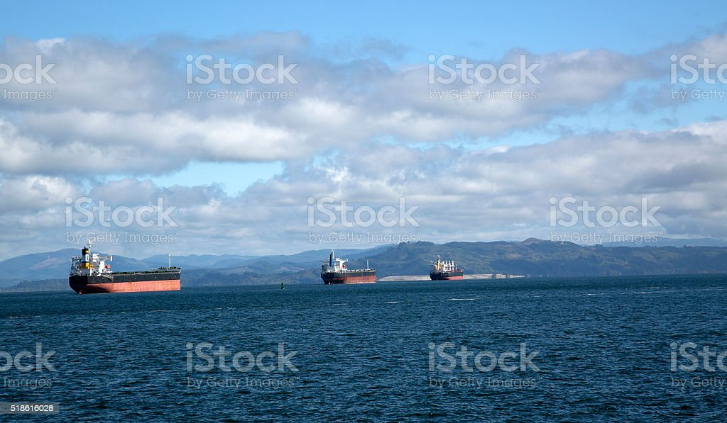 Columbia River commerce stock photo