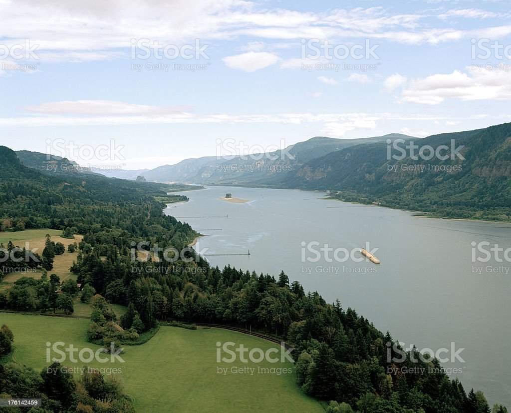 Columbia River Gorge at Cape Horn, Washington, United States stock photo