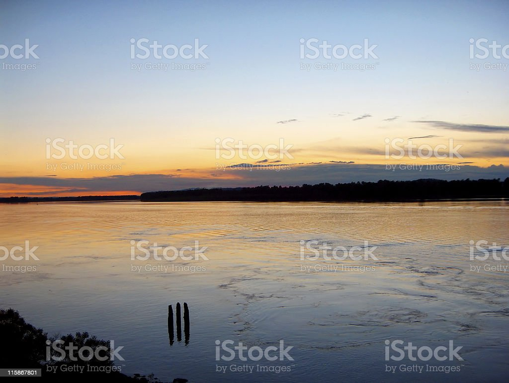 Columbia River Gorge at Dusk royalty-free stock photo