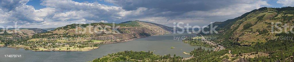Columbia River Gorge panorama Oregon Washington USA stock photo
